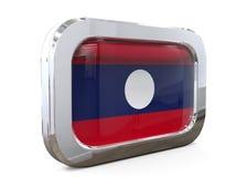 Van de de Knoopvlag van Laos 3D illustratie Stock Foto