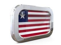 Van de de Knoopvlag van Liberia 3D illustratie Royalty-vrije Stock Fotografie