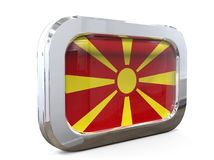 Van de de Knoopvlag van Macedonië 3D illustratie Royalty-vrije Stock Fotografie