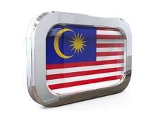 Van de de Knoopvlag van Maleisië 3D illustratie Stock Foto