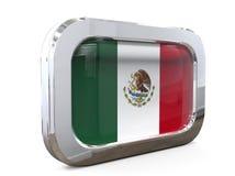 Van de de Knoopvlag van Mexico 3D illustratie Stock Foto's