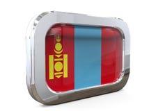 Van de de Knoopvlag van Mongolië 3D illustratie Royalty-vrije Stock Foto