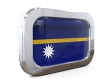 Van de de Knoopvlag van Nauru 3D illustratie Stock Afbeelding
