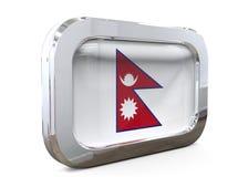Van de de Knoopvlag van Nepal 3D illustratie Stock Afbeeldingen
