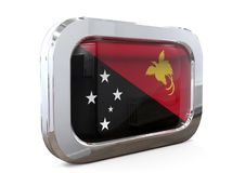 Van de de Knoopvlag van Papoea-Nieuw-Guinea 3D illustratie Royalty-vrije Stock Afbeeldingen