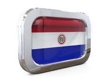 Van de de Knoopvlag van Paraguay 3D illustratie Royalty-vrije Stock Fotografie