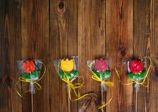 Van de de koekjesgift van de bloementulp het mamma` s dag stock fotografie