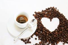 Van de kopespressoo van de koffiedrank hete het aromacafeïne, het de koffieo ` klok van ` s, houd ik van Coffe, Goedemorgen, drin Stock Afbeelding
