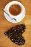 Van de kopespressoo van de koffiedrank hete het aromacafeïne, het de koffieo ` klok van ` s, houd ik van Coffe, Goedemorgen, drin Royalty-vrije Stock Foto
