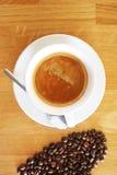 Van de kopespressoo van de koffiedrank hete het aromacafeïne, het de koffieo ` klok van ` s, houd ik van Coffe, Goedemorgen, drin Stock Fotografie