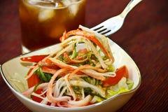 Van de krab het vlees (Kani) salade Royalty-vrije Stock Foto's