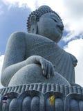 Van de kunst de grote Boedha van het standbeeldontwerp tempel van de de godsdienstvrijheid in Phuket Thailand Royalty-vrije Stock Fotografie