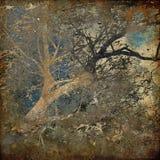 Van de kunst grunge boskaart als achtergrond royalty-vrije stock afbeelding