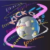 Van de de kunstactie van het voetbalvoetbal de borstelactie Royalty-vrije Stock Fotografie
