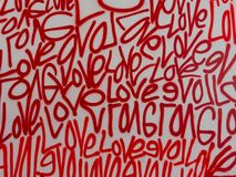 Van de de kunstgraffiti van de liefdestraat de nevelverf stock afbeelding