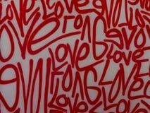 Van de de kunstgraffiti van de liefdestraat de nevelverf royalty-vrije stock foto