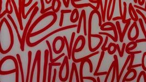 Van de de kunstgraffiti van de liefdestraat de nevelverf royalty-vrije stock afbeelding