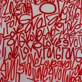 Van de de kunstgraffiti van de liefdestraat de nevelverf royalty-vrije stock afbeeldingen