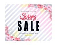 Van de de lenteverkoop vectorillustratie als achtergrond Royalty-vrije Stock Fotografie