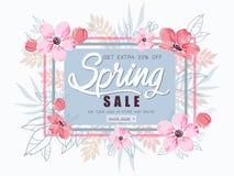 Van de de lenteverkoop vectorillustratie als achtergrond Stock Afbeelding