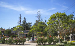 Van De Leur Park with Firefighters Monument in Yountville Royalty Free Stock Photography