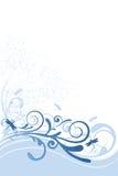 Van de libel Blauw Ornament Als achtergrond Stock Afbeeldingen