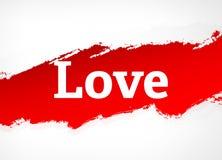 Van de liefde Rode Borstel Abstracte Illustratie Als achtergrond royalty-vrije illustratie