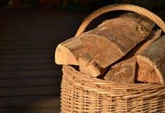 Van de de logboekenoven van het mandbrandhout de brandwond warme hitte royalty-vrije stock fotografie