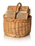 Van de de logboekenoven van het mandbrandhout de brandwond warme hitte royalty-vrije stock afbeeldingen
