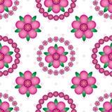 Van de mandalasymmetrie van de bloemgradiënt het naadloze patroon stock illustratie
