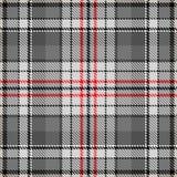 Van de de maniercontrole van het stoffenpatroon het patroon grijs rood royalty-vrije illustratie