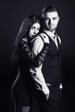 Van de manierman en vrouw het portret van het liefdepaar royalty-vrije stock foto