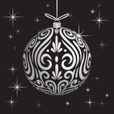 Van de Maorikoru van de decoratiebal witte Kerstmissnuisterij voor Kerstboom stock foto's