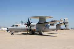 Van de Marine e-2C Hawkeye van Frankrijk de radarvliegtuig royalty-vrije stock fotografie
