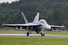 Van de Marineboeing F/A-18F van Verenigde Staten vliegtuigen van de de Horzel veelzijdige vechter de Super royalty-vrije stock foto's