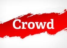 Van de menigte Rode Borstel Abstracte Illustratie Als achtergrond royalty-vrije illustratie
