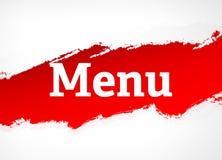 Van de menu Rode Borstel Abstracte Illustratie Als achtergrond stock illustratie
