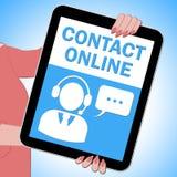 Van de de Middelenklant van de contact Online Tablet de Dienst 3d Illustratie Royalty-vrije Stock Fotografie