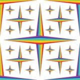 Van de modieuze het naadloze patroon de diamantster van de regenboogsymmetrie vector illustratie