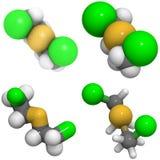 Van de mosterd het gas (Yperiet) structuur Royalty-vrije Stock Fotografie