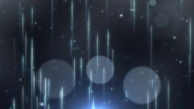 Van de motietitels van het deeltjesstof de abstracte lichte cinematic achtergrond stock footage