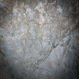 Van de muur ruwe grunge van het cement concrete grijze mortier de barstoppervlakte Stock Foto