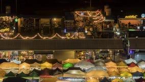 Van de de nachttrein van Bangkok de marktdag aan nachttijdspanne stock videobeelden