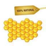 100 van de natuurlijke honingspercenten was stock illustratie