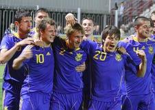 Van de Oekraïne (onder-21) het Nationale Team Stock Foto