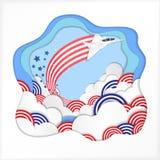 Van de de onafhankelijkheidsdag van Amerika de de vieringsvector illustreert royalty-vrije illustratie