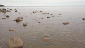 Van de de Oostzeekust van Rojaletland video van de de hommel hoogste mening 4K UHD de Lucht stock footage