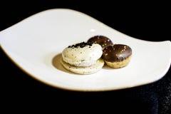 Van de Oreomakaron en chocolade koekjes royalty-vrije stock foto's