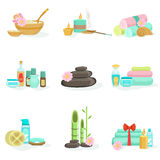 Van de Oriental Skincare Spa de Producten en de Behandelingen Centrumschoonheid Royalty-vrije Stock Fotografie