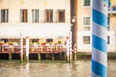 300 van de oude Venetiaanse paleisjaar voorgevel van Kanaal Grande Stock Afbeeldingen